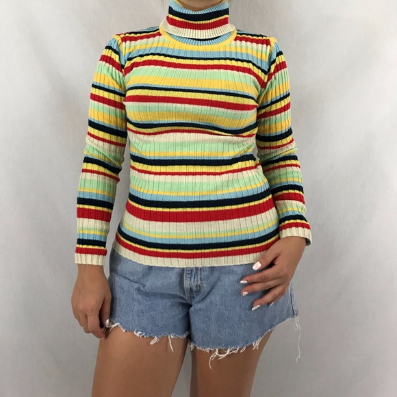 0b8c6069 vintage Sweaters | 70s Striped Sweater Top | Poshmark